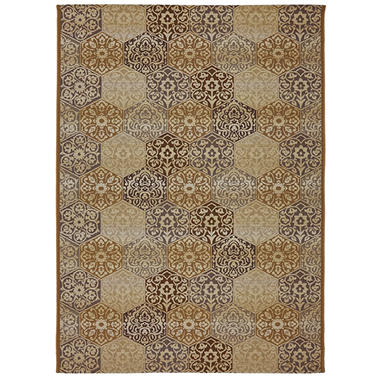 Bali Tile Cream Outdoor Area Rug Sam s Club