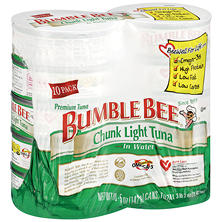 bumble bee chunk light tuna in water 5 oz can 10 ct item. Black Bedroom Furniture Sets. Home Design Ideas