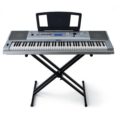 Yamaha keyboard w 76 graded action piano keys sam 39 s club for Yamaha piano keyboard models