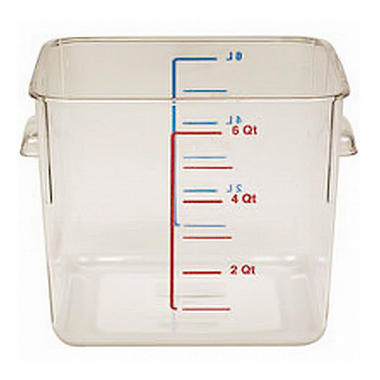 two 6 qt clear food storage containers with lids by rubbermaid item