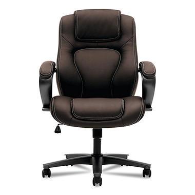 Basyx Vl402 Series Executive High Back Chair Brown Sam