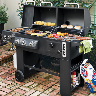 hybrid grill infrared propane gas and charcoal cooking system sam 39 s club. Black Bedroom Furniture Sets. Home Design Ideas