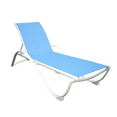 Stack chaise lounge blue sam 39 s club for Blue sling chaise lounge