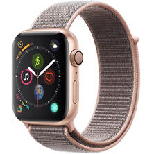 Apple Watch Series 4 GPS Gold Aluminum Case with Pink Sand Sport Loop (Choose Size)