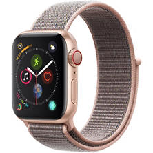 Apple Watch Series 4 GPS + Cellular Gold Aluminum Case with Pink Sand Sport Loop (Choose Size)