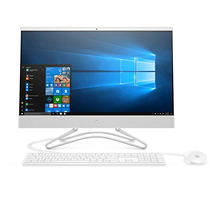 "HP Full HD IPS 23.8"" F0010 All-in-One, Intel Pentium Silver J5005 Processor, 8GB Memory, 1TB Hard Drive, DVD-Writer, Intel UHD Graphics 605, Windows 10 Home, HP white wired keyboard with volume control and white wired optical mouse"