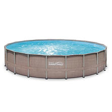"20' x 48"" Summer Waves Elite Frame Pool Set with Mosaic Printing"