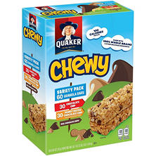 Quaker Chewy Granola Bars Variety Pack (60 pk.)