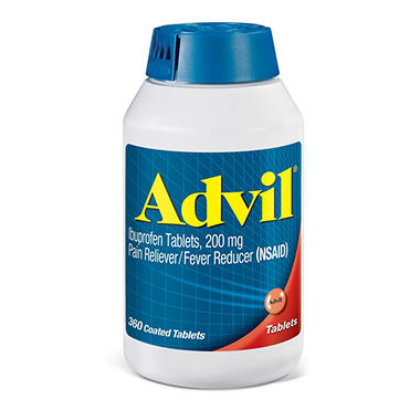 Advil Pain Reliever / Fever Reducer Coated Tablet, 200mg ...
