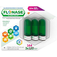 FLONASE Allergy Relief Nasal Spray (144 sprays per bottle, 3 ct.)