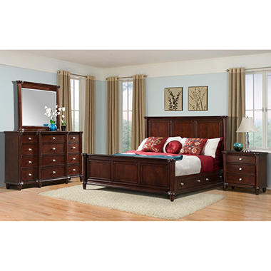 Gavin bedroom furniture set with storage bed assorted for Best rated bedroom furniture