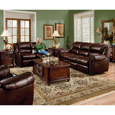 Lane Sidney Leather Reclining Sofa Set 3 Pc Sam 39 S Club