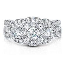 1.96 CT. TW. Diamond Wedding Ring Set in 14K White Gold I, I1
