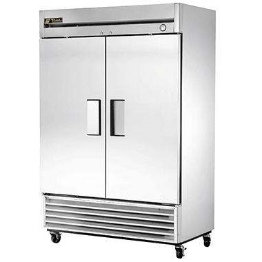True 2 Door Stainless Steel Reach In Refrigerator 49 Cu