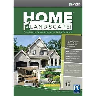 Punch home landscape design v18 sam 39 s club for Home landscape design software
