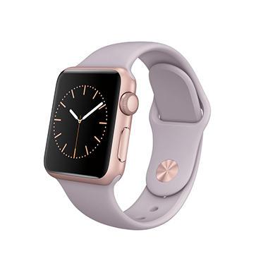 Apple watch sport 38mm rose gold aluminum case lavender sport band sam 39 s club for Rose gold apple watch