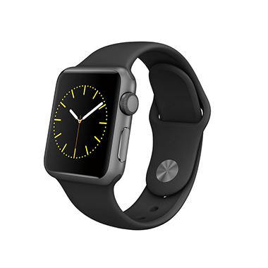 Apple Watch Sport Series 1- 38mm Space Gray Aluminum Case ...