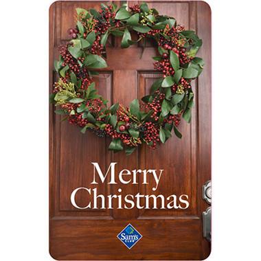 Christmas Door Holiday Gift Card - Sam's Club
