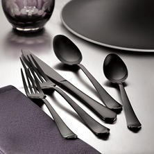 Hampton Signature Palace 20-Piece Gunmetal Flatware Set