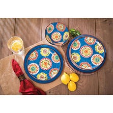 Melamine 18-Piece Dinnerware Set (Assorted Colors)