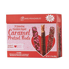 Mrs. Prindable's Valentine Chocolate Dipped Caramel Pretzel Rods (24 ct.)