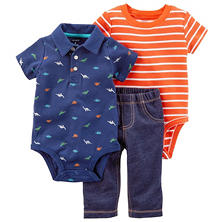Carter's 3-Piece Boys' Bodysuit Pant Set