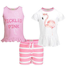 Beetle & Thread Girls' 3 Piece Short Set