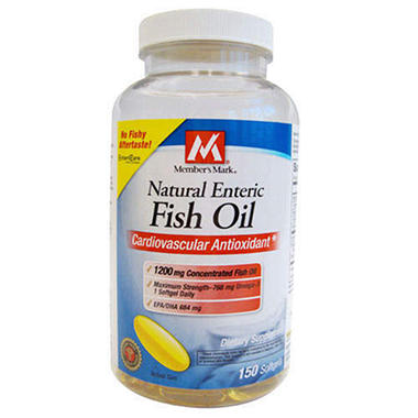 Member 39 s mark natural enteric fish oil 150ct sam 39 s club for Sam s club fish oil