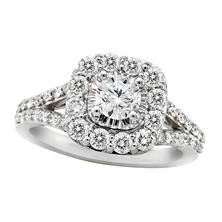 1.30 CT. T.W. Diamond Ring in 14K White Gold ( I, I1)