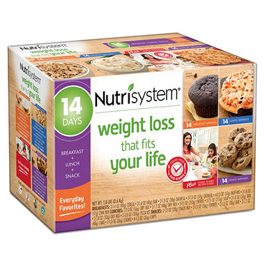 Nutrisystem 14 Day Everyday Favorites Weight Loss Kit