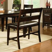 weston counter height dining bench espresso item 38456 model