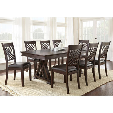 Avalon dining table and chairs 9 piece set sam 39 s club for Dining room 9 piece sets