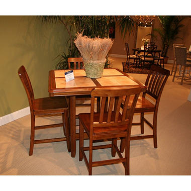 cabana casual tile top table dining set 5 pc sam 39 s club