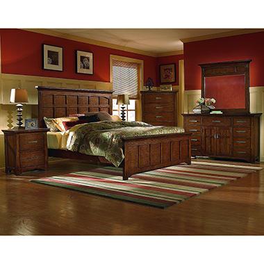 Sonora Oak Bedroom Set King 5 Pc Sam 39 S Club