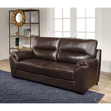 Bixley Top Grain Leather Sofa Sam S Club