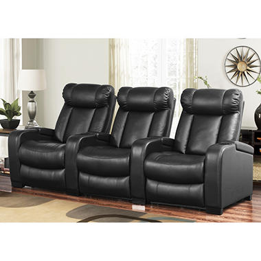 Larson Leather Power Reclining Home Theater Seating 3