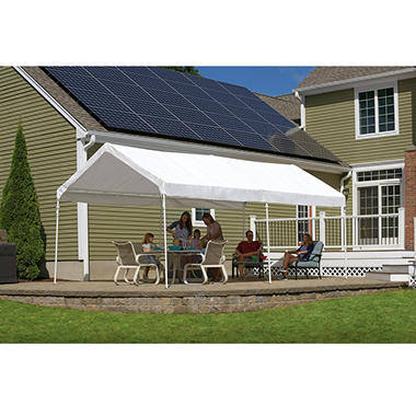 Accelaframe Fire Rated Canopy With Bag 10 X 20 White
