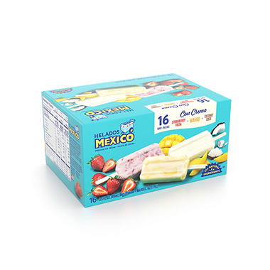 Helados Mexico Ice Cream Bars Fruit 3 Oz 16 Pk Sam