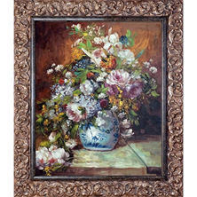 Pierre-Auguste Renoir Grande Vase di Fiori Hand Painted Oil Reproduction