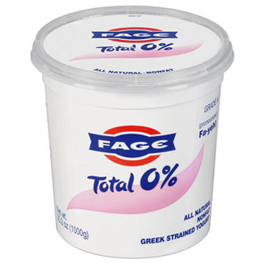 Costco Auto Program >> FAGE Total 0% Plain Greek Strained Yogurt 35.3 oz. - Sam's Club