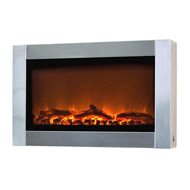 Wall Mounted Electric Fireplace Stainless Steel Sam 39 S Club