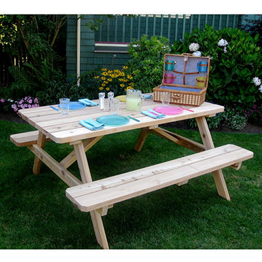 6 ft x 3 ft cedar picnic table sam 39 s club for 10 ft picnic table