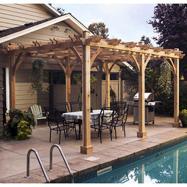Western Red Cedar Pergola 12 X 20 Sam S Club
