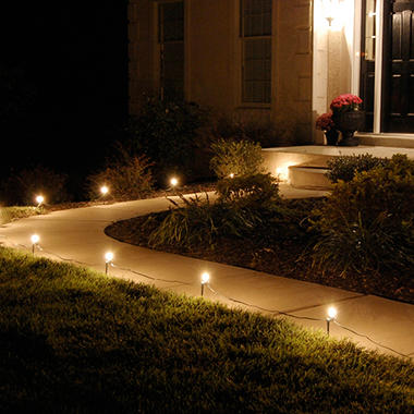 Electric pathway clear lights 10 ct sam 39 s club for Electric walkway lights