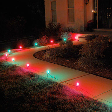 Electric pathway red and green lights 10 ct sam 39 s club for Electric walkway lights