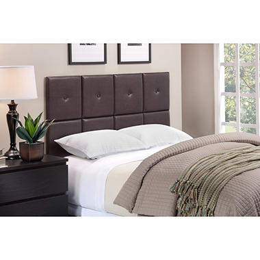 Tessa Faux Leather Upholstered Headboard Tiles Assorted