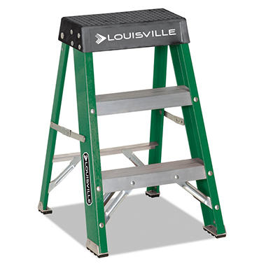 Louisville Folding Fiberglass Locking 2 Step Stool Sam S