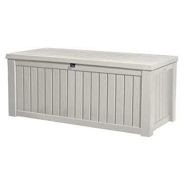 Rockwood 150 Gallon Outdoor Storage Deck Box White Sam