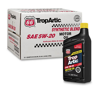 Phillips 66 Tropartic 5w 20 Synthetic Blend Motor Oil 1