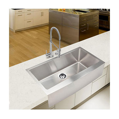 Oversized Farmhouse Sink : ... Handmade - Extra Large Single Farmhouse Kitchen Sink - Sams Club